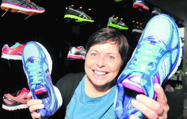 This Is Wiltshire: Non-Hodgkins lymphoma survivor Tracy Dixon, who owns the Run shop in Wood Street, is running the London Marathon in April