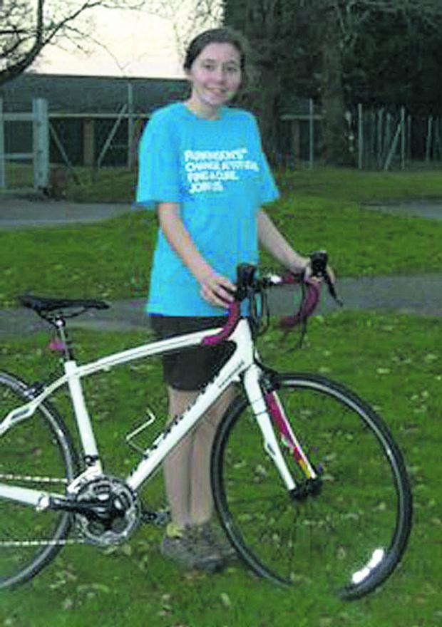 This Is Wiltshire: Jess Taylor is taking part in a charity bike ride