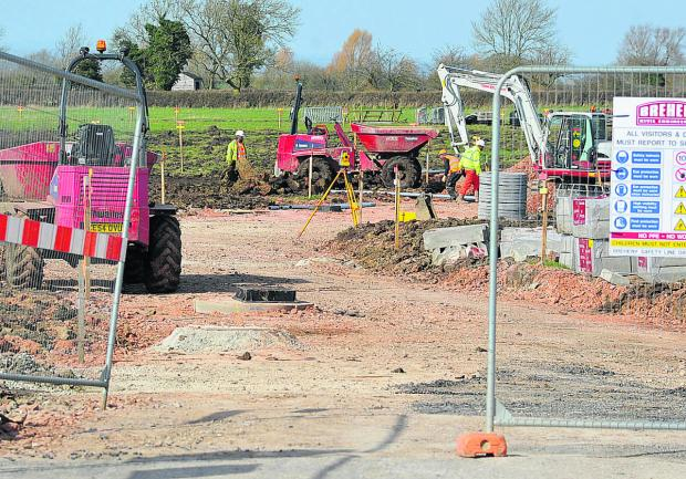 This Is Wiltshire: The site at Tadpole Lane where the school will be built. Picture: DAVE COX