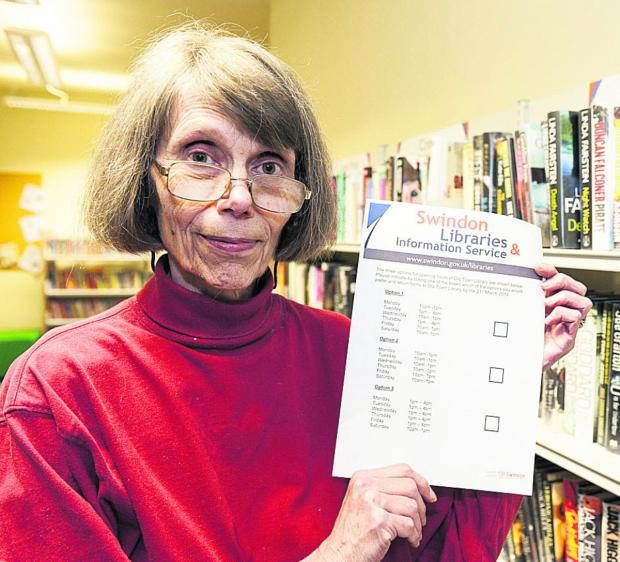 This Is Wiltshire: Library user Shirley Burnham  at Old Town Library