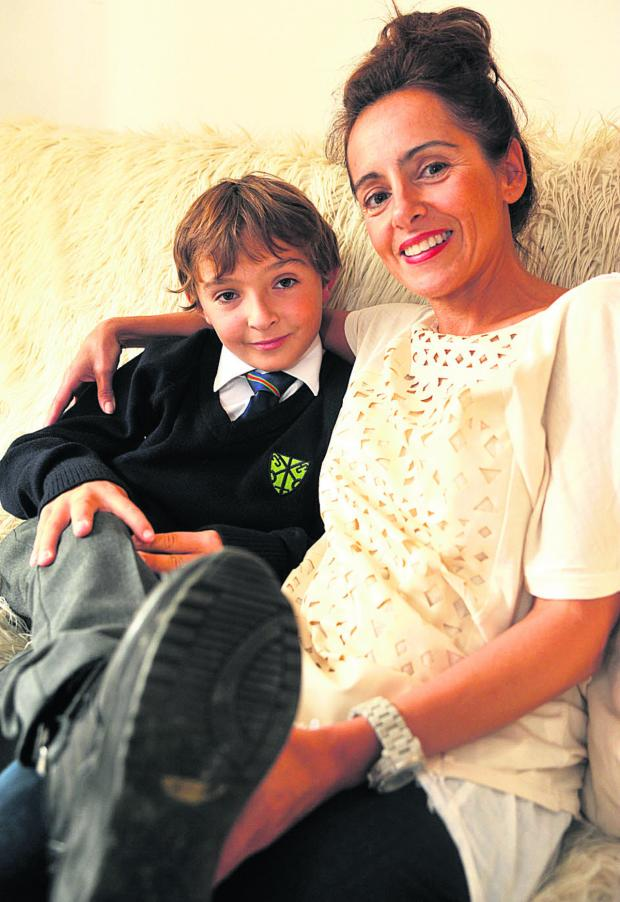 This Is Wiltshire: Luca Railton and his mother, Theresa. They ar