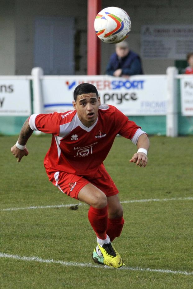 This Is Wiltshire: Kris Miller was on target for Frome