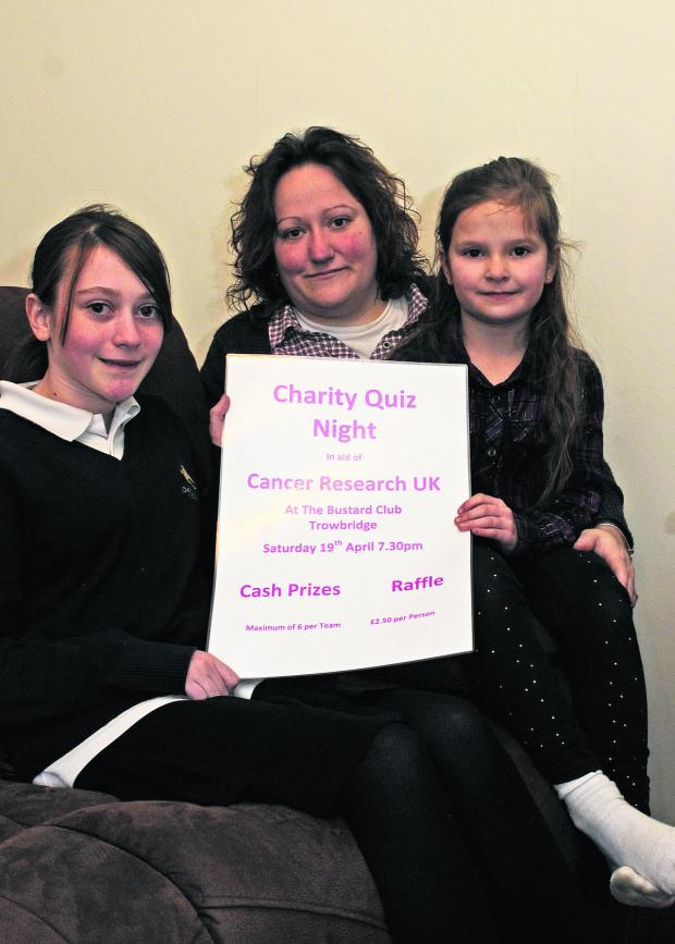 This Is Wiltshire: Emily James, 12, with aunt Rebecca Rendell and her daughter Abigail, seven
