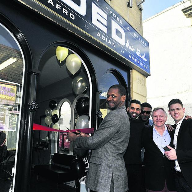 This Is Wiltshire: Rapper Giggs opens the new #Faded hair studio in Church Street, Trowbridge