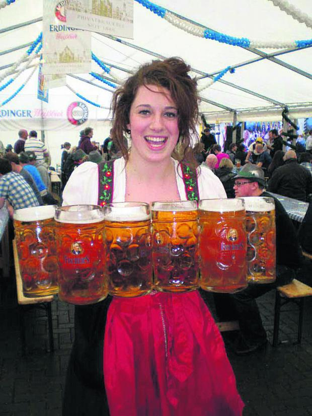 This Is Wiltshire: Revellers can expect scenes like this at tonight's German beer festival taking place at the MECA, Regent Circus