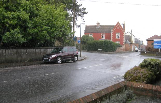 This Is Wiltshire: Surprise hail showers in Devizes