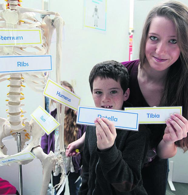 This Is Wiltshire: Alex and Mairi O'Shaughnessy enjoy Marlborough Science Fair at St John's