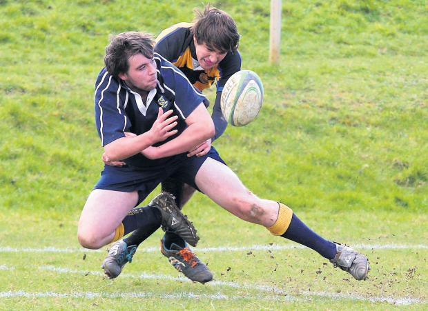 This Is Wiltshire: James Fearn in action for Farmor's School in their cup final