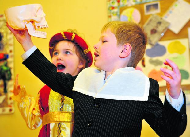 This Is Wiltshire: Chiseldon Primary School pupils turned back the clock a few centuries to mark Shakespeare week