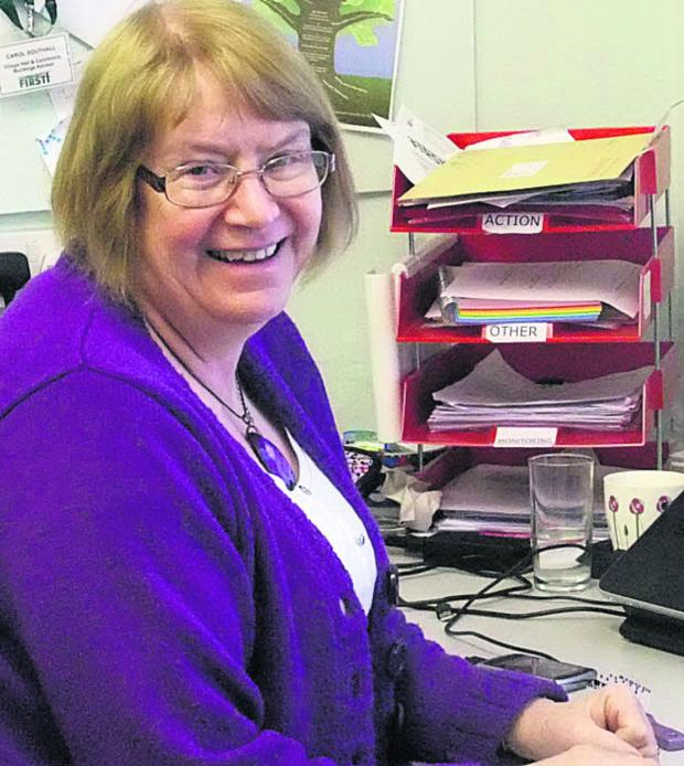 This Is Wiltshire: Carol Southall, the village hall and community buildings advisor for Community First Wiltshire