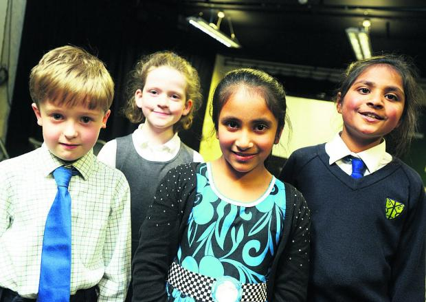 This Is Wiltshire: A quartet of promising performers in the piano solo 9 and under class – Will Hubburd, Siobhan O'Connell, Tanisha Navaratne and Trisha Fernandes                                           Pictures: THOMAS KELSEY