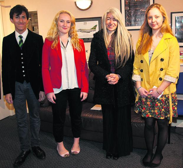 This Is Wiltshire: Dame Evelyn Glennie and a group of Dauntsey's School pupils