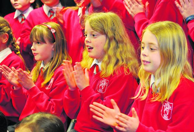 This Is Wiltshire: Ashbury School pupils compete in Class 152 Junior choir 11 and under at Swindon music festival