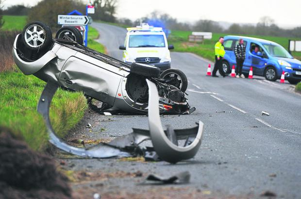 This Is Wiltshire: The accident on the on the A4361 near Winterbourne Bassett