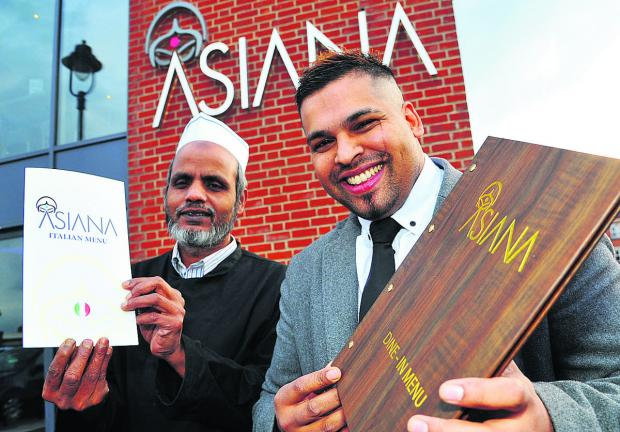 This Is Wiltshire: From left, Asiana's head chef Kutub Uddin and owner Faz Zaman