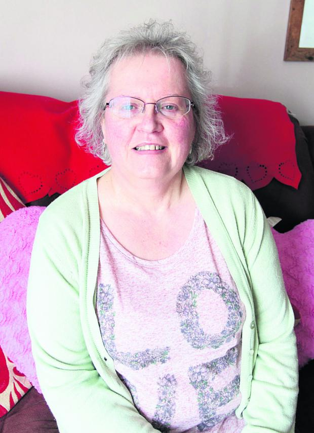 This Is Wiltshire: Sandra Witchell is contemplating hot stone massage
