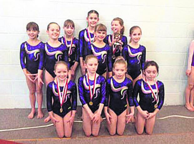 This Is Wiltshire: Wiltshire School's 9/10 and 11/12 years competitors at the South West Springboard event