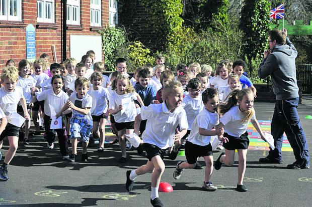 This Is Wiltshire: Pupils at Newtown Primary, Trowbridge, are off
