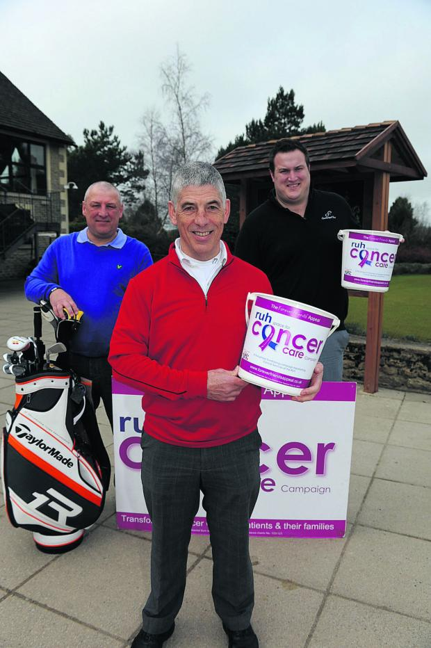 This Is Wiltshire: Martin Cooper, centre, with Mark Hobbs, left, and Ali James, who hope to raise £10,000