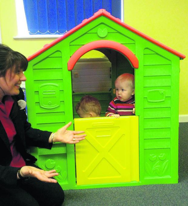 This Is Wiltshire: Fun and games as the toddler playhouse is presented to NSPCC Ashdown Family C