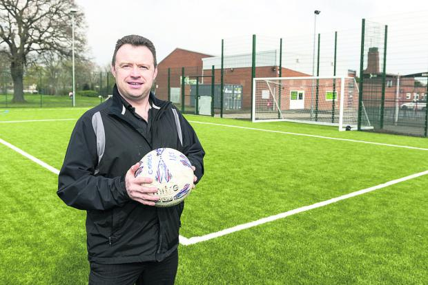 This Is Wiltshire: Ian Green, senior operations manager at Grange Leisure, where the new all weather pitch has been such a success it is almost fully booked