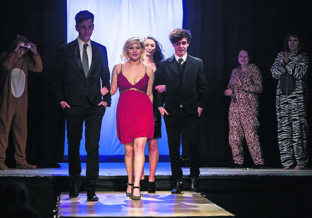 This Is Wiltshire: Youngsters at Devizes School during the fundraising fashion show
