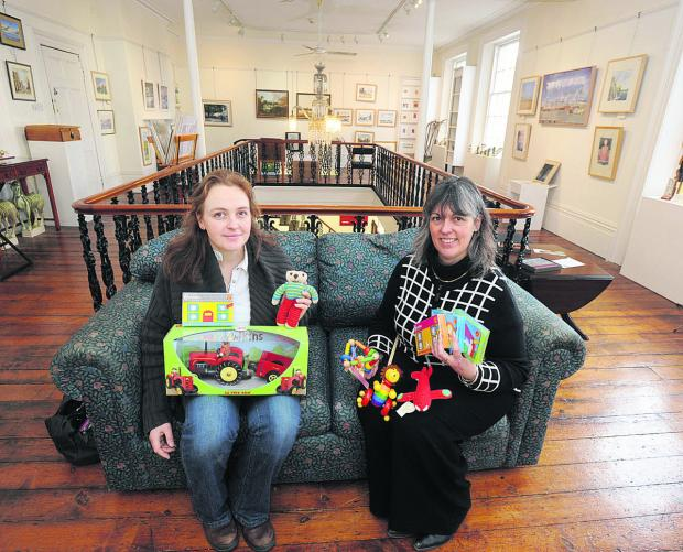 This Is Wiltshire: Caroline Rudler, left, from The Toy Tree is joining forces with Jo Batchelor from Devizes Books