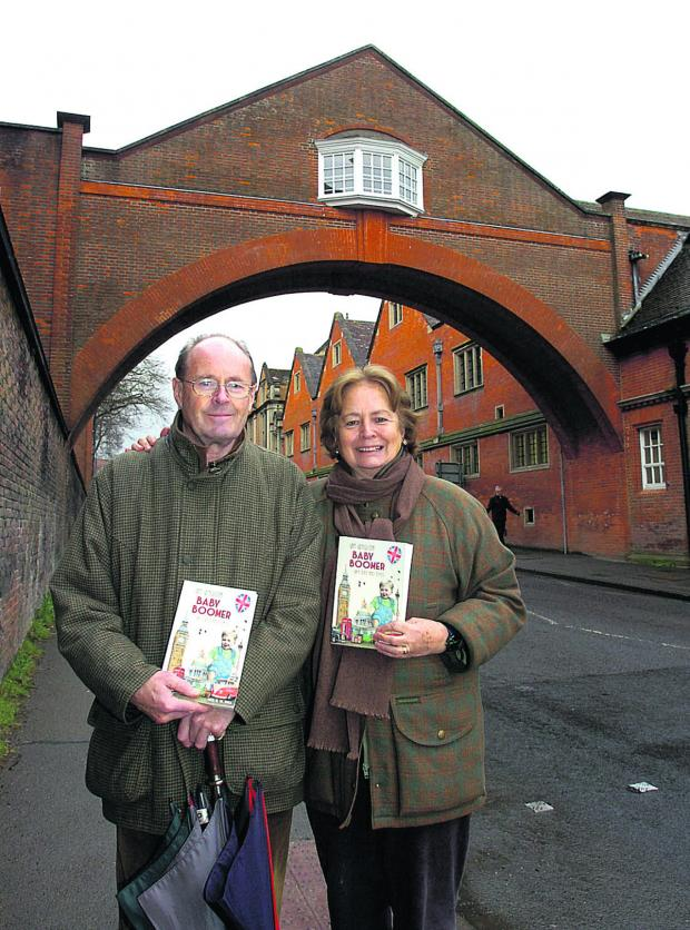 This Is Wiltshire: Neil Hall and his wife Lucinda with his new book An English Baby Boomer – My Life and Times