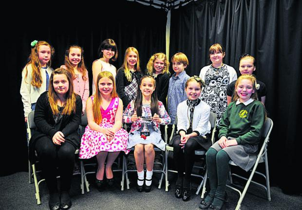 This Is Wiltshire: Top, left to right, Emila Cassidy, Winnie Diggens, Caitlin Eastham, Jazmine Painter, Poppy Edwards , Thomas White, Elissa Northam and Denan Conlon.  Below, Lilly James, Megan Castle, Safron Hamilton-Gill, Charlotte Jenkins and Megan Cuthbert