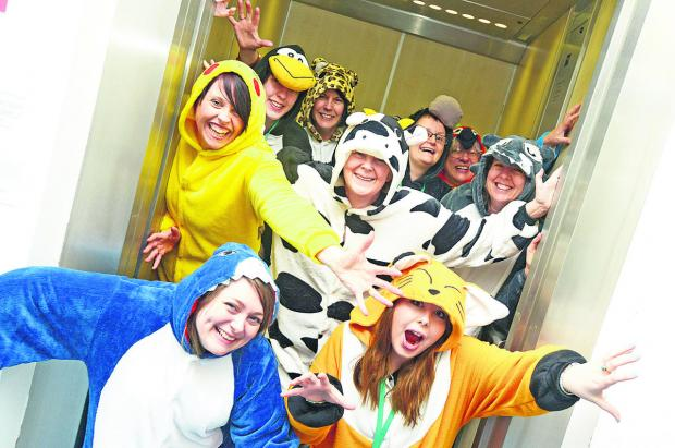 This Is Wiltshire: SEQOL is urging people to slip into something comfy and fun to support Onesie Wednesday. Picture: THOMAS KELSEY