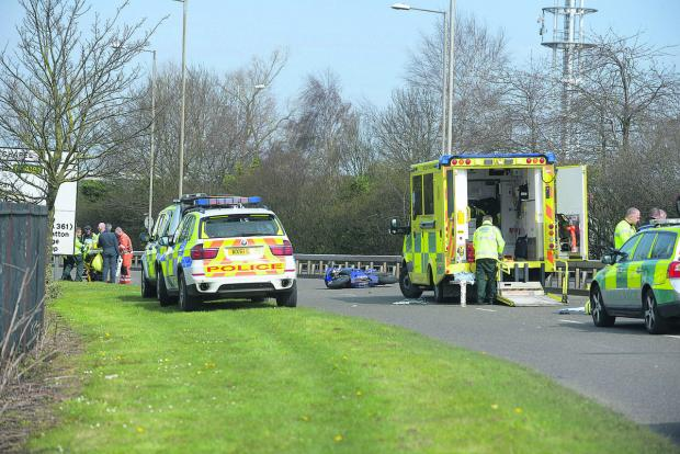 This Is Wiltshire: The scene of the accident in Cirencester Way