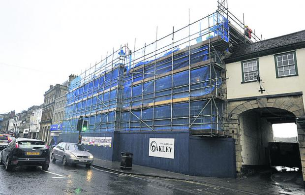 This Is Wiltshire: The Bath Arms under wraps during the refurbishment