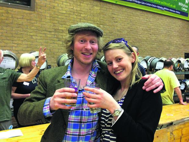 This Is Wiltshire: Jim Faulkner and Annabel Weston at Chippenham Beer Festival
