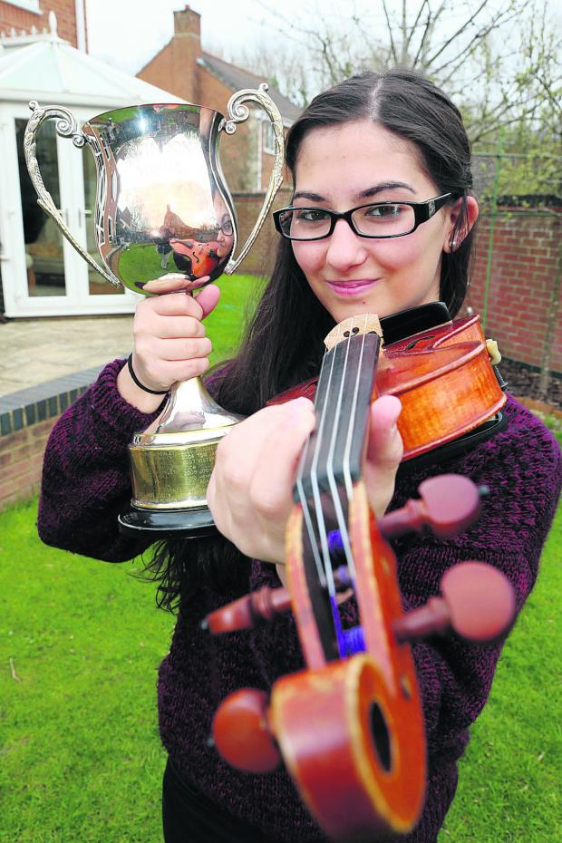 This Is Wiltshire: Anahita Falaki won the instrumental challenge cup at this year's festival