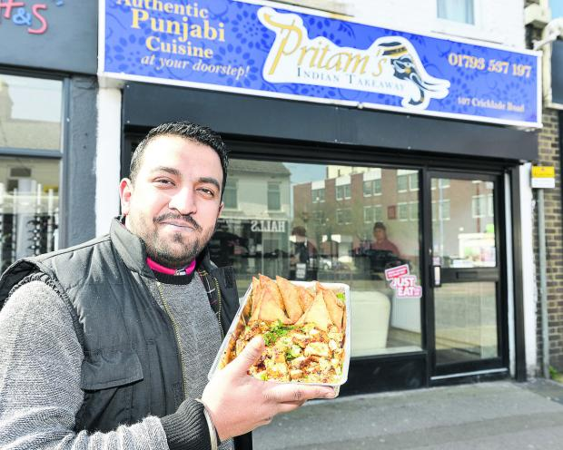 This Is Wiltshire: Amrit Singh, the co-owner of new Indian takeaway Pritam's in Cricklade Road