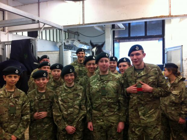 This Is Wiltshire: The Cadets in the stables at Hyde Park Barracks