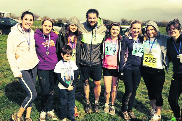 This Is Wiltshire: Charity runners have raised more than £1,000 by taking part in the Wiltshire Scramble