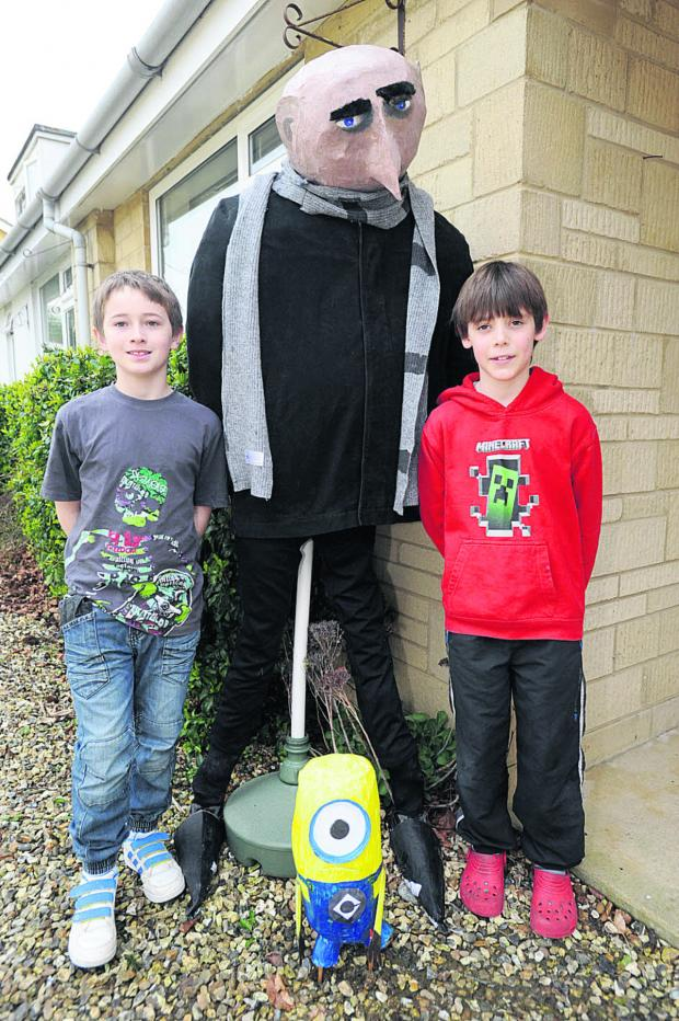 This Is Wiltshire: Despicable Me's Gru and a Minion with Callum Bridgeman, left, and Alex Jones