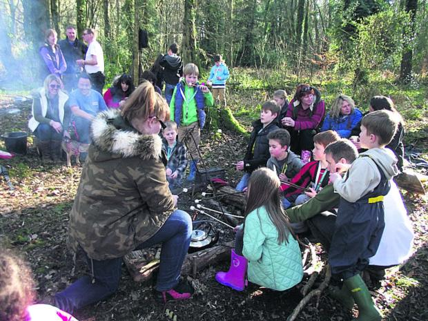 This Is Wiltshire: Children go wild over at Sutton Veny's fabulous forest school