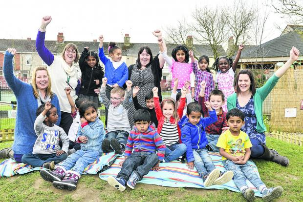 This Is Wiltshire: Teachers and children from Drove Nursery
