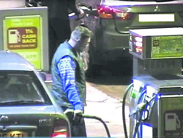 This Is Wiltshire: CCTV images of the theft of fuel from the Asda petrol pumps