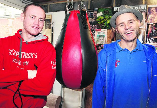 This Is Wiltshire: George Groves and Paddy Fitzpatrick at Fitzpatrick's Boxing Gym, in Ferndale Road