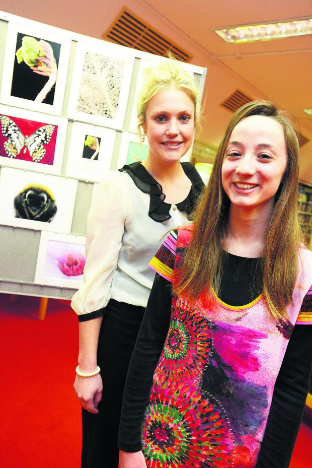 This Is Wiltshire: Exhibition of work by DASH and the Swindon branch of National Autism Society. Pictured Laura Morris and Chloe Grubb