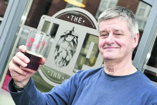 This Is Wiltshire: Jason Putt, the owner of the The Hop Inn, which has been named in the top 200 UK local pubs