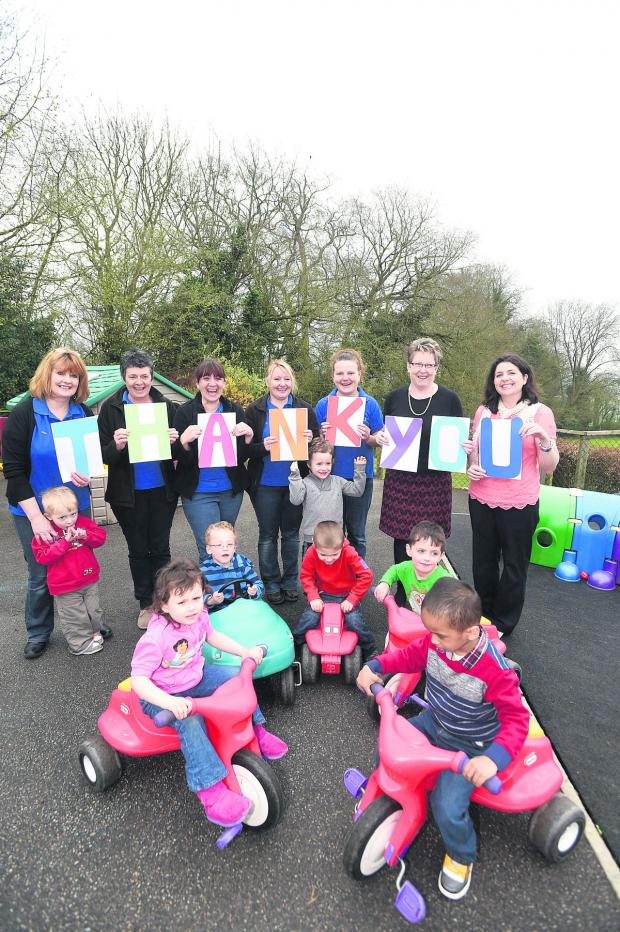 This Is Wiltshire: Devizes Opportunity Centre staff and children say thank you
