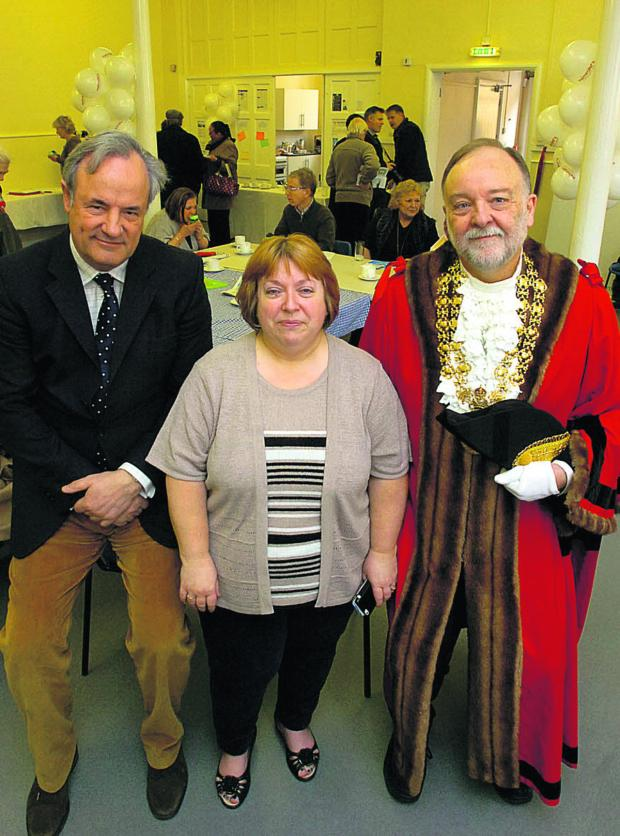 This Is Wiltshire: MP James Gray, Coun Julie Exton and Mayor John Gundry at the opening