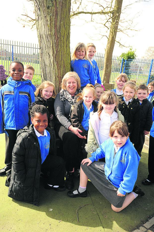 This Is Wiltshire: Jan Ball and pupils at Westbury Infants' School