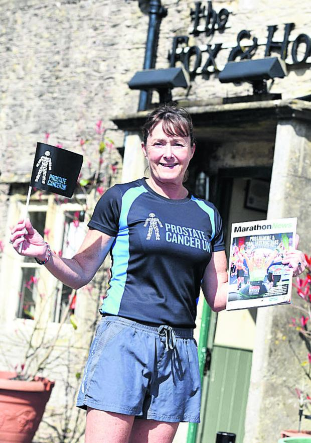 This Is Wiltshire: Former army officer Bernadette Rigby at the Fox & Hounds, Colerne
