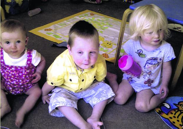 This Is Wiltshire: Kacey Rigg, and Jack and Jaden Rigg when they were 18 months old. Jack attended Devizes Opportunity Centre