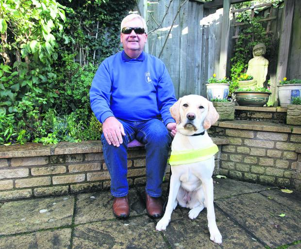 This Is Wiltshire: Swindon Guide Dogs chairman Alan Fletcher